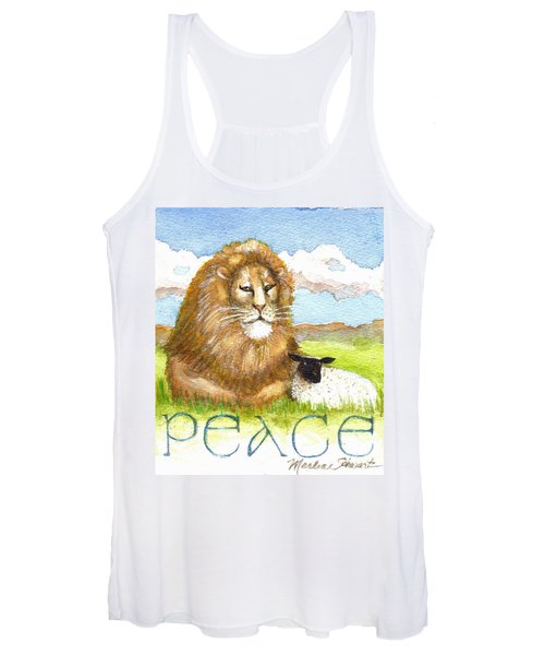 Lion And Lamb - Peace  Women's Tank Top