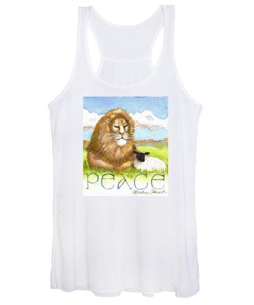 Lion And Lamb - Peace  Women's Tank Top