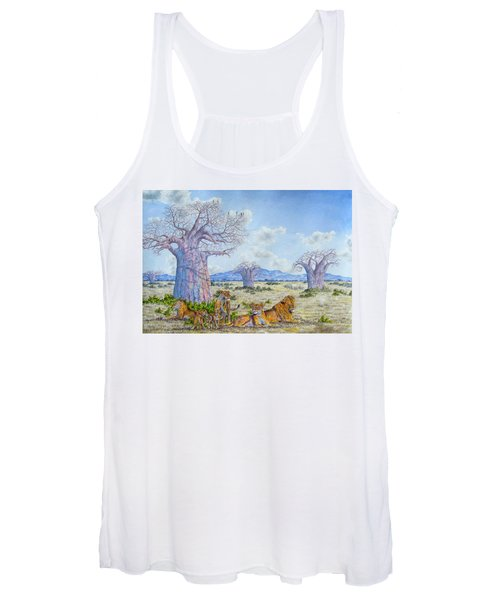 Lions By The Baobab Women's Tank Top