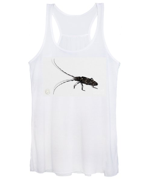 Long-hornded Wood Boring Beetle Monochamus Sartor - Coleoptere Monochame Tailleur - Women's Tank Top
