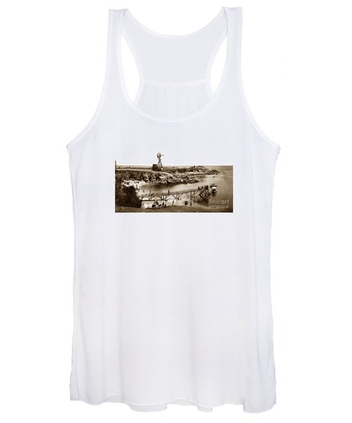 Lovers Point Beach And Old Wooden Pier Pacific Grove August 18 1900 Women's Tank Top