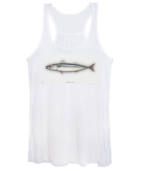 Mackerel Scomber Scombrus  - Maquereau - Caballa - Sarda - Scombro - Makrilli - Seafood Art Women's Tank Top