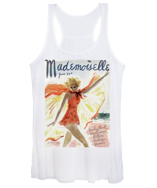 Mademoiselle Cover Featuring A Model At The Beach Women's Tank Top