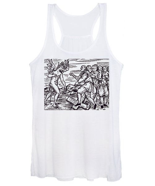 Male Witch Renouncing Christ Women's Tank Top