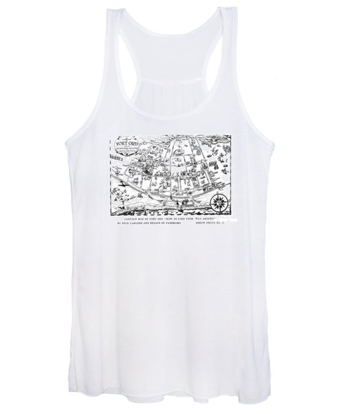 Map Of Fort Ord Army Base Monterey California Circa 1950 Women's Tank Top