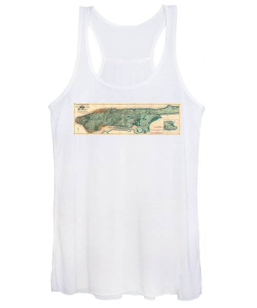Map Of Manhattan Women's Tank Top