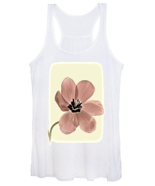 Mauve Tulip Transparency Women's Tank Top