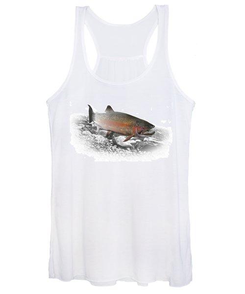 Migrating Steelhead Rainbow Trout Women's Tank Top