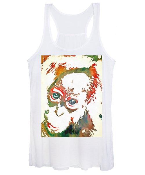 Monkey Pop Art Women's Tank Top
