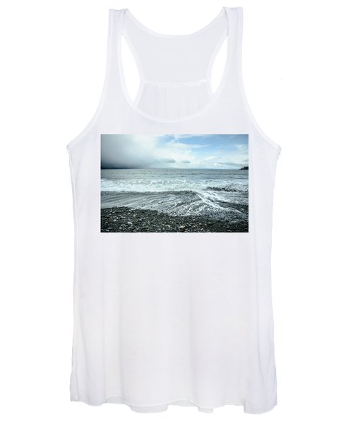 Moody Waves French Beach Women's Tank Top