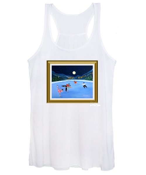Moonlight Skating. Inspirations Collection. Card Women's Tank Top