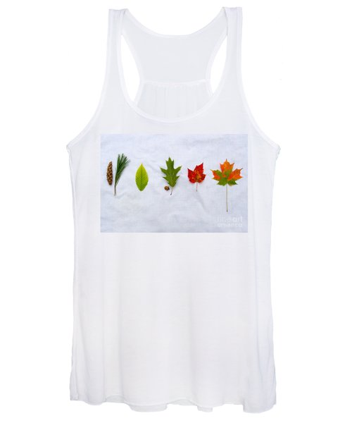 Needle And Leaf Comparison Women's Tank Top