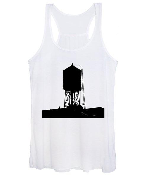 New York Water Tower 17 - Silhouette - Urban Icon Women's Tank Top