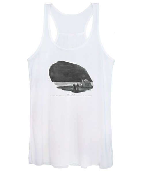 Night Watch  I See Him! About Halfway Women's Tank Top