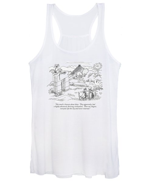 Not Much Is Known About Them.  They Apparently Women's Tank Top