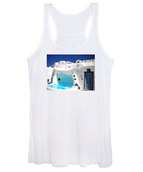 Oia Santorini  With Direct View To The Oceon Greece Women's Tank Top