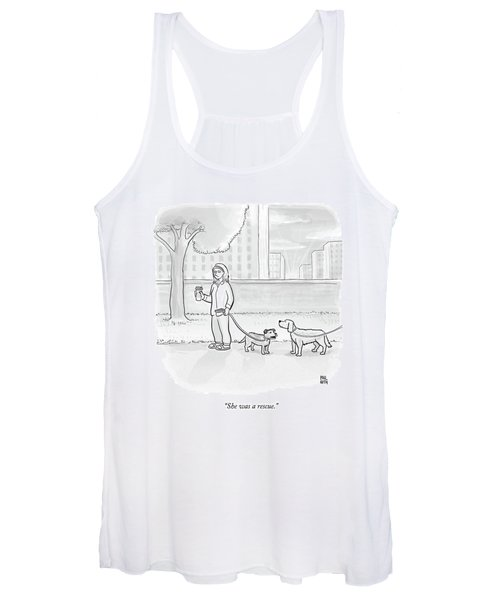 One Dog Talks To Another Women's Tank Top