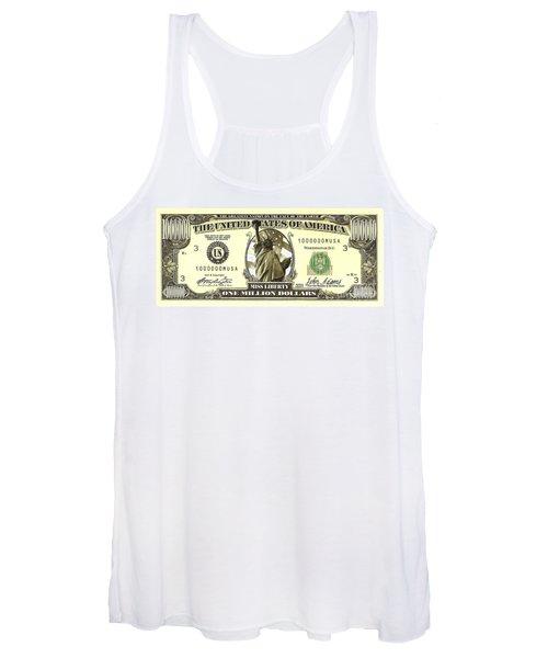 One Million Dollar Bill Women's Tank Top