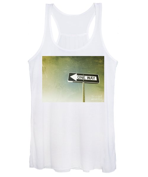 One Way Road Sign Women's Tank Top
