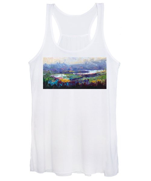 Overlook Abstract Landscape Women's Tank Top
