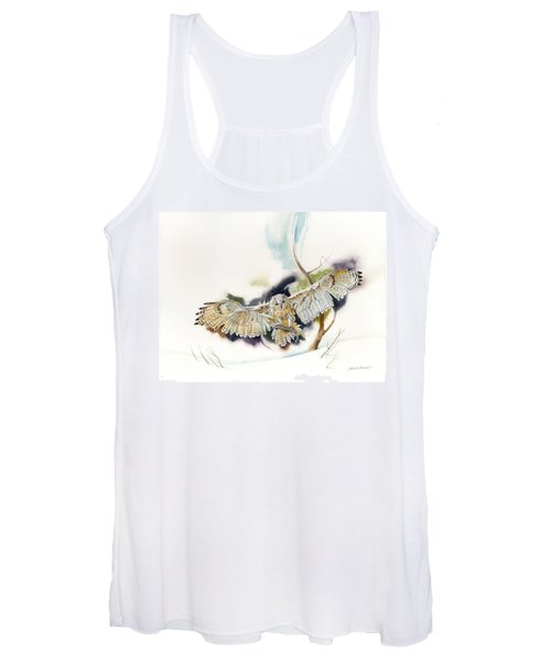 Owl Catches Lunch Women's Tank Top