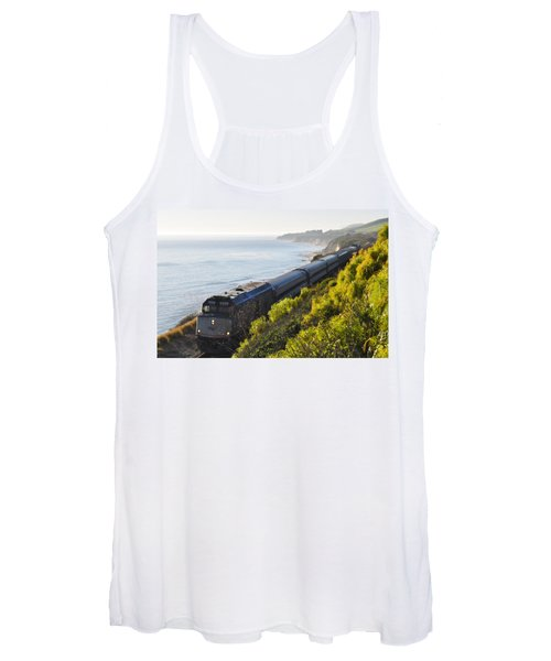 Pacific Surfliner Along The Central Coast Women's Tank Top