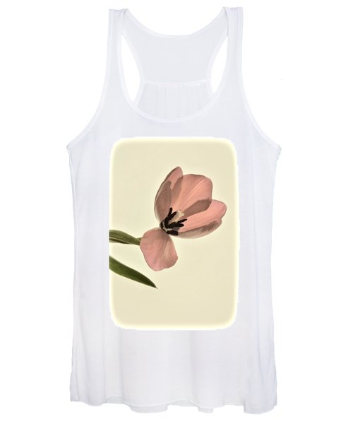 Pale Pink Tulip Women's Tank Top
