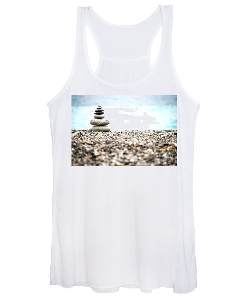 Pebble Stone On Beach Women's Tank Top