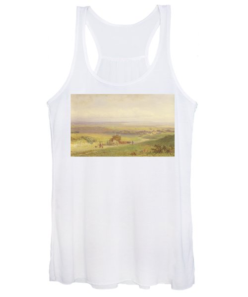 Pevensey Bay, Sussex, 1868 Wc, Bc, Graphite And Scraping On Paper Women's Tank Top