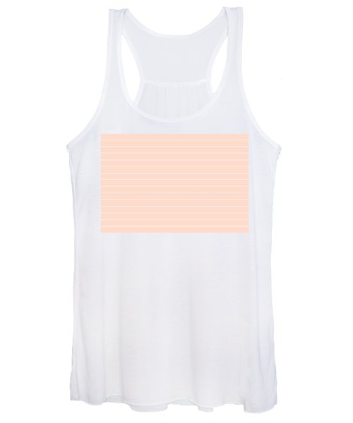 Pink And White Pin Stripes Women's Tank Top