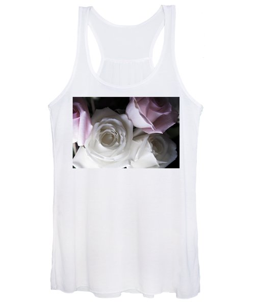 Pink And White Roses Women's Tank Top