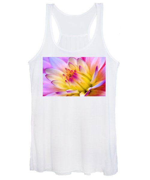 Pink And White Water Lily Women's Tank Top