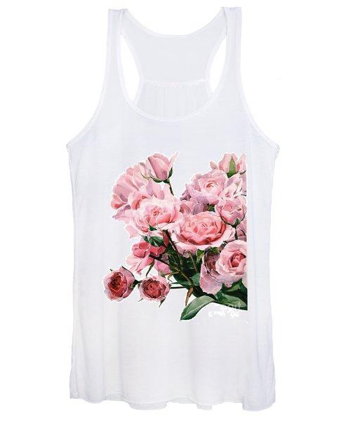Pink Rose Bouquet Women's Tank Top