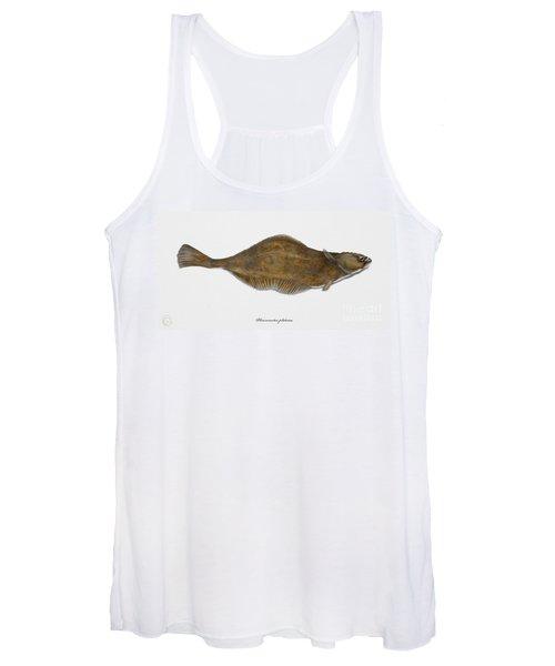 Plaice Pleuronectes Platessa - Flat Fish Pleuronectiformes - Carrelet Plie - Solla - Punakampela Women's Tank Top