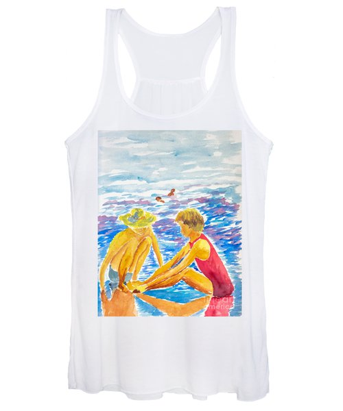 Playing On The Beach Women's Tank Top