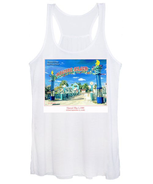Pleasure Island Sign And Walkway Downtown Disney Women's Tank Top