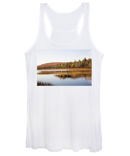 Pond In A Forest, Alger County, Upper Women's Tank Top