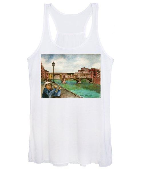 Ponte Vecchio Florence Italy Women's Tank Top