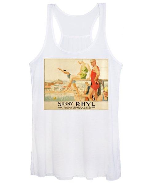 Poster Advertising Sunny Rhyl  Women's Tank Top