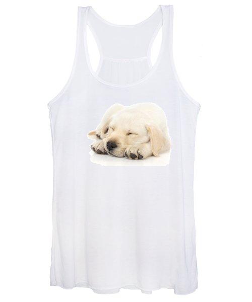 Puppy Sleeping On Paws Women's Tank Top