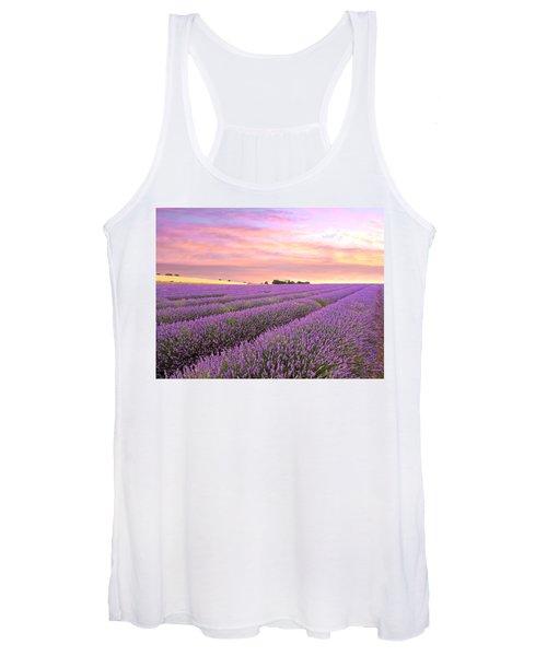 Purple Haze - Lavender Field At Sunrise Women's Tank Top