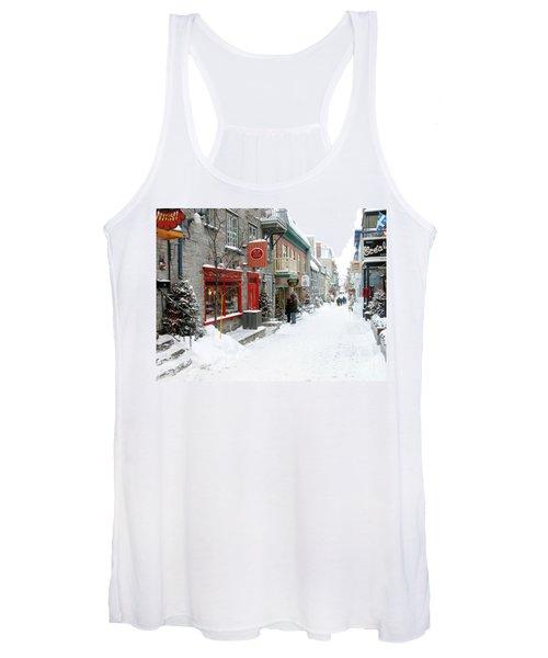 Quebec City In Winter Women's Tank Top