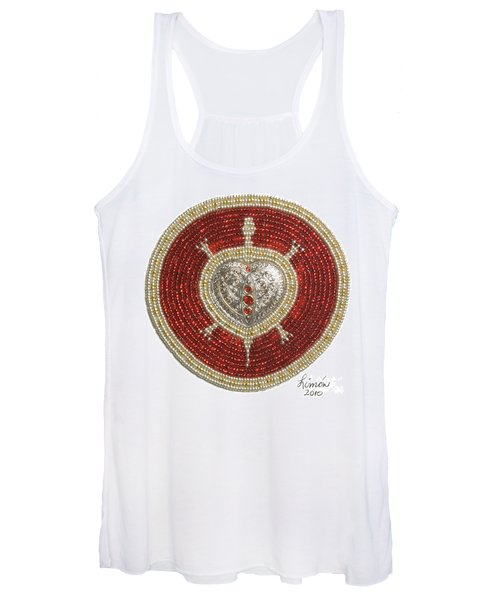 Silver And Gold Heart Turtle Women's Tank Top