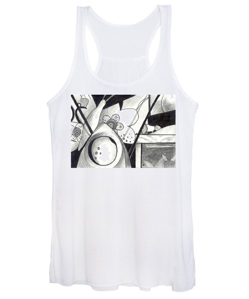 Receptors And Rabbit Ears And Long Pairs Of Antennas Women's Tank Top