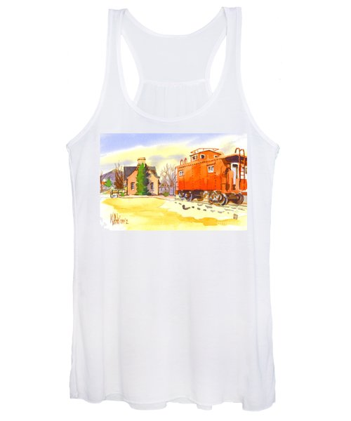 Red Caboose At Whistle Junction Ironton Missouri Women's Tank Top