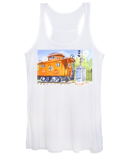 Red Caboose With Signal  Women's Tank Top