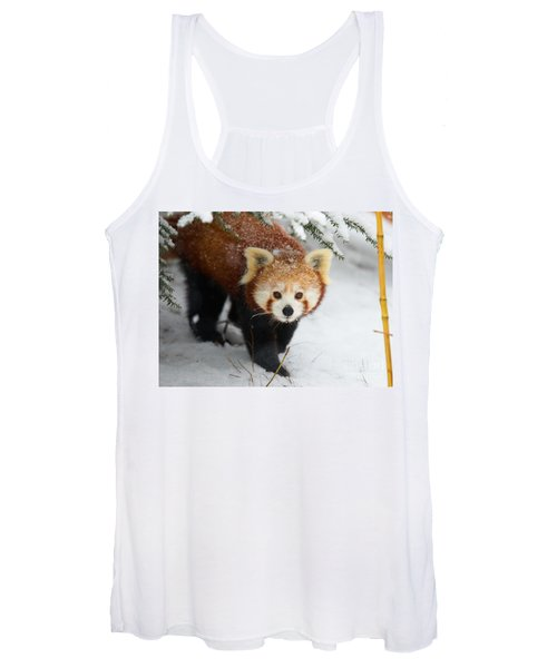 Red Panda In The Snow Women's Tank Top