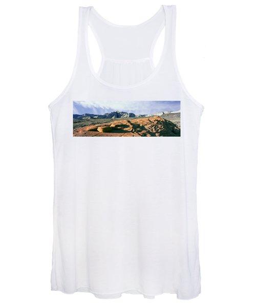Red Petrified Sand Dunes White Navajo Women's Tank Top