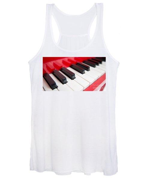 Red Piano Women's Tank Top