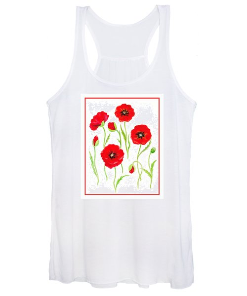 Red Poppies Women's Tank Top